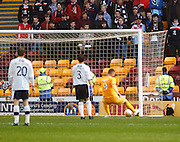 Motherwell's Michael Higdon  equalises - Motherwell v Dundee at Fir Park in the Clydesdale Bank Scottish Premier League.. - © David Young - www.davidyoungphoto.co.uk - email: davidyoungphoto@gmail.com