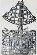 Great wooden quadrant designed by Tycho Brahe. From his 'Astronomiae instaurate mechanica', 1602.