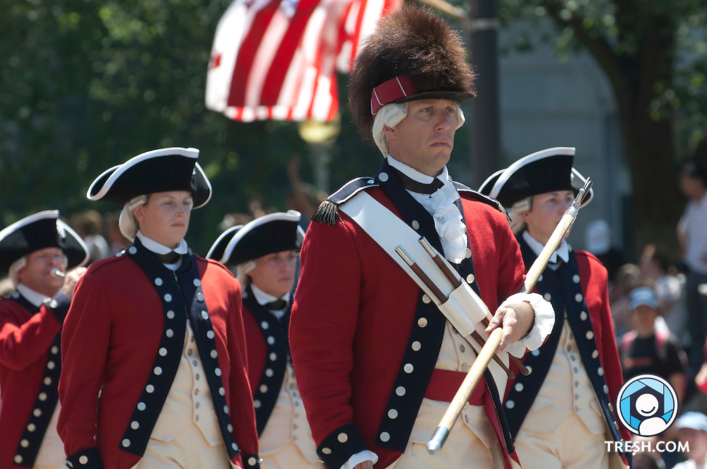 Images from the National Independence Day Parade and fireworks in Washington, D.C., July 4, 2010