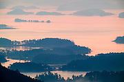 Sunrise over Lake Ouachita in the Ouachita Mountains of Arkansas