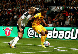 Daniel Johnson of Preston North End takes on Johnny Russell of Derby County - Mandatory by-line: Robbie Stephenson/JMP - 15/08/2017 - FOOTBALL - Pride Park Stadium - Derby, England - Derby County v Preston North End - Sky Bet Championship