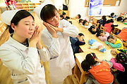The medical staff of The second hospital popularize knowledge of sleep<br /> <br /> The medical staff of The second hospital popularize knowledge of sleep at an activity of a theme-focused education at a kindergarten before the world sleep day in Handan,Hebei,China on 16th March 2016.<br /> ©Exclusivepix Media