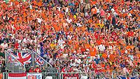 RIO DE JANEIRO -  Oranjesupporters tijdens  de finale tussen de dames van Nederland en  Groot-Brittannie (3-3) in het Olympic Hockey Center tijdens de Olympische Spelen in Rio.  GB wint na shoot outs .COPYRIGHT KOEN SUYK