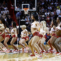 29 January 2012: Miami Heat dancers are seen during the Miami Heat 97-93 victory over the Chicago Bulls at the AmericanAirlines Arena, Miami, Florida, USA.