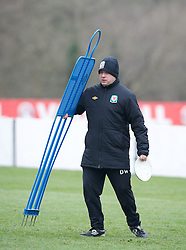 CARDIFF, WALES - Sunday, March 24, 2013: Wales' physiotherapist David Weeks during a training session at the Vale of Glamorgan ahead of the 2014 FIFA World Cup Brazil Qualifying Group A match against Croatia. (Pic by David Rawcliffe/Propaganda)