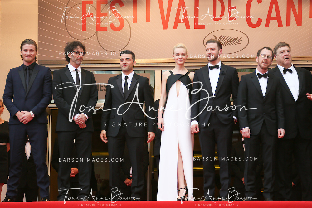 CANNES, FRANCE - MAY 19:  Director Joel Coen, actors Oscar Isaac, Carey Mulligan, Justin Timberlake, director Ethan Coen,John Goodman and musician and producer T Bone Burnett attend the Premiere of 'Inside Llewyn Davis' at The 66th Annual Cannes Film Festival on May 19, 2013 in Cannes, France.  (Photo by Tony Barson/FilmMagic)