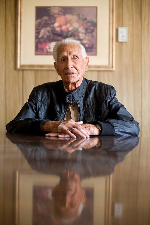 120111       Brian Leddy.Veteran Nick Salas fought in World War II.