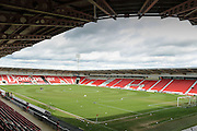 Stadium shot during the Sky Bet League 1 match between Doncaster Rovers and Blackpool at the Keepmoat Stadium, Doncaster, England on 28 March 2016. Photo by Simon Davies.