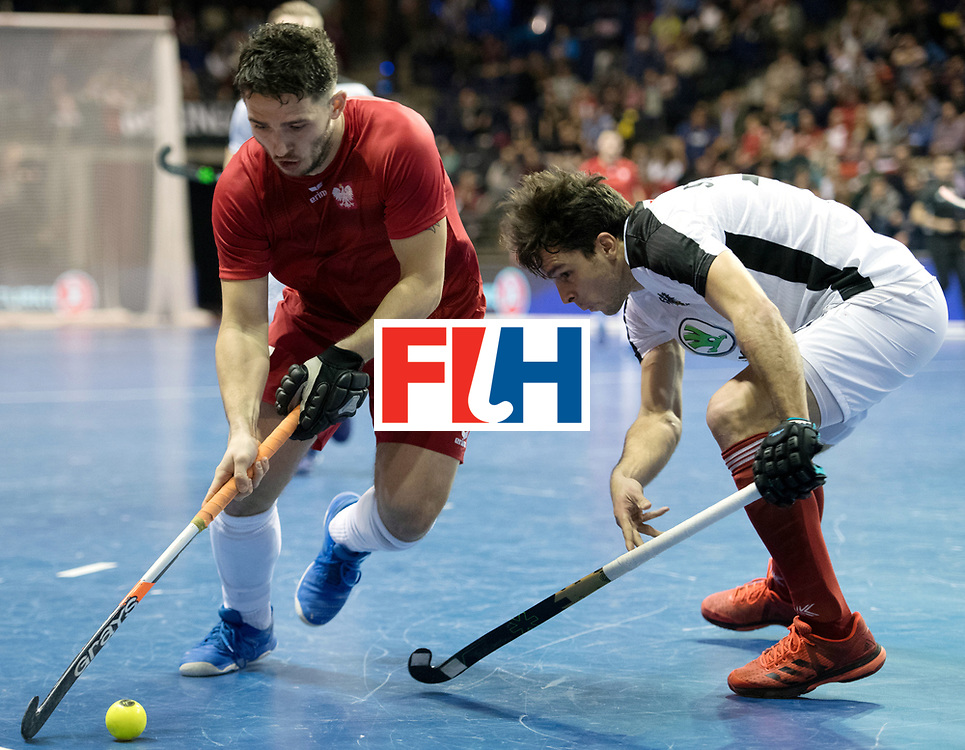 BERLIN - Indoor Hockey World Cup<br /> Quarterfinal 2: Austria - Poland<br /> foto: Tomasz G&oacute;rny <br /> WORLDSPORTPICS COPYRIGHT FRANK UIJLENBROEK