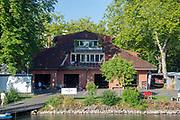 "Lucerne, SWITZERLAND, 12th July 2018, Friday  View,  Seeclub ""Luzern"", Boathouse, ""Lake Lucerne',  Photographer, Karon PHILLIPS,"