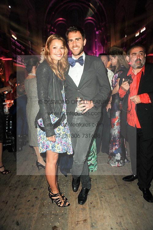 OSCAR HUMPHRIES and SARA PHILIPPIDIS at 'Superficial Butterfly' a party hosted by Amanda Eliasch to celebrate her 50th birthday held at Number One Mayfair (St Marks Church) North Audley Street, London on 12th May 2010.