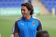 AFC Wimbledon defender Will Nightingale (5) smiling during the EFL Sky Bet League 1 match between AFC Wimbledon and Gillingham at the Cherry Red Records Stadium, Kingston, England on 12 September 2017. Photo by Matthew Redman.