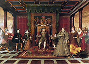Allegory of the Tudor Succession (Sudeley Castle), c. 1572  The Family of Henry VIII: An Allegory of the Tudor Succession. Painting by Lucas de Heere