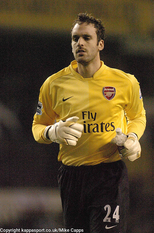 Arsenal Keeper Manuel Almunia, (SPA) Carling Cup 1st Leg Semi Final 24/1/2007