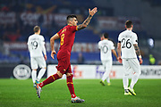Diego Perotti of Roma celebrates after scoring 1-0 goal during the UEFA Europa League, Group J football match between AS Roma and Wolfsberg AC on December 12, 2019 at Stadio Olimpico in Rome, Italy - Photo Federico Proietti / ProSportsImages / DPPI