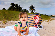 Lucas adjusting to the beach.
