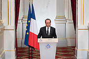 Paris (75) - Elysee Palace . Statement of President Franaois Holland after the Brexit<br /> ©Exclusivepix Media