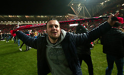 Bristol City fans celebrate beating Manchester United - Mandatory by-line: Robbie Stephenson/JMP - 20/12/2017 - FOOTBALL - Ashton Gate Stadium - Bristol, England - Bristol City v Manchester United - Carabao Cup Quarter Final