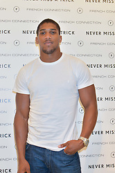 Boxer ANTHONY JOSHUA at the French Connection #NeverMissATrick Launch Party held at French Connection, 396 Oxford Street, London on 23rd July 2014.