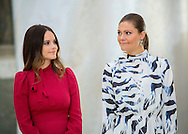 Stockholm, 17-10-2016<br /> <br /> Opening of the exhibition the Royal wedding dresses 1976-2015 &quot; attendend by Queen Silvia, Crown Princess Victoria, Princess Sofia at The Royal Palace of Stockholm.<br /> <br /> COPYRIGHT ROYALPORTRAITS EUROPE/ BERNARD RUEBSAMEN