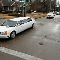 Thomas Wells   BUY AT PHOTOS.DJOURNAL.COM<br /> The mororcade makes it way down North Green for Monday's Dr. Martin Luther King's service held at St. Paul Christian Life center on Monday morning.