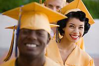 Graduates Standing in Line
