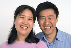 Portrait of a couple smiling together,