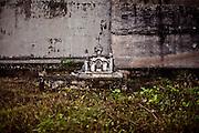 Catholic tomb in a graveyard of Hanoi, Vietnam, Southeast Asia.