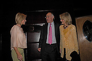 Caroline Habib, Michael and Sandra  Howard. Conservative fund raising dinner hosted  by Marco Pierre White and Franki Dettori at  Frankie's. Knightsbridge. 17 January 2004. ONE TIME USE ONLY - DO NOT ARCHIVE  © Copyright Photograph by Dafydd Jones 66 Stockwell Park Rd. London SW9 0DA Tel 020 7733 0108 www.dafjones.com