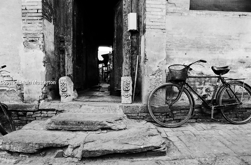 Entrance to old house in a hutong in Beijing China