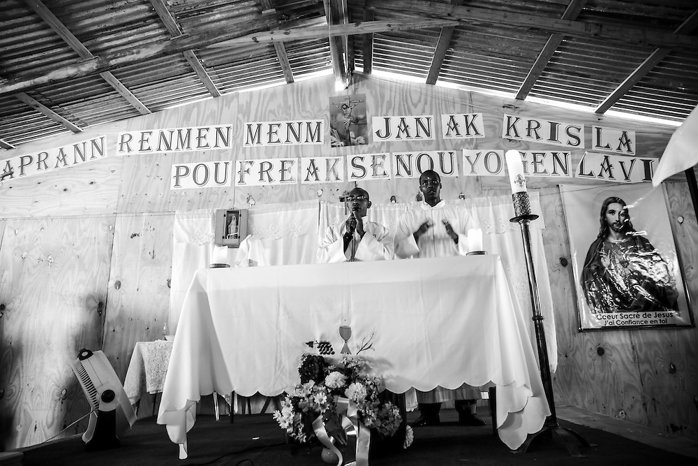 Church service in Port Au-Prince, Haiti.