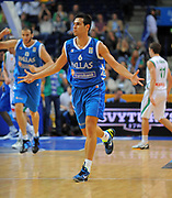 DESCRIZIONE : Vilnius Lithuania Lituania Eurobasket Men 2011 Second Round Slovenia Grecia Slovenia Greece<br /> GIOCATORE : Nikolaos Zizis<br /> SQUADRA : Grecia Greece<br /> EVENTO : Eurobasket Men 2011<br /> GARA : Slovenia Grecia Slovenia Greece<br /> DATA : 08/09/2011 <br /> CATEGORIA : esultanza jubilation<br /> SPORT : Pallacanestro <br /> AUTORE : Agenzia Ciamillo-Castoria/T.Wiendesohler<br /> Galleria : Eurobasket Men 2011 <br /> Fotonotizia : Vilnius Lithuania Lituania Eurobasket Men 2011 Second Round Slovenia Grecia Slovenia Greece<br /> Predefinita :