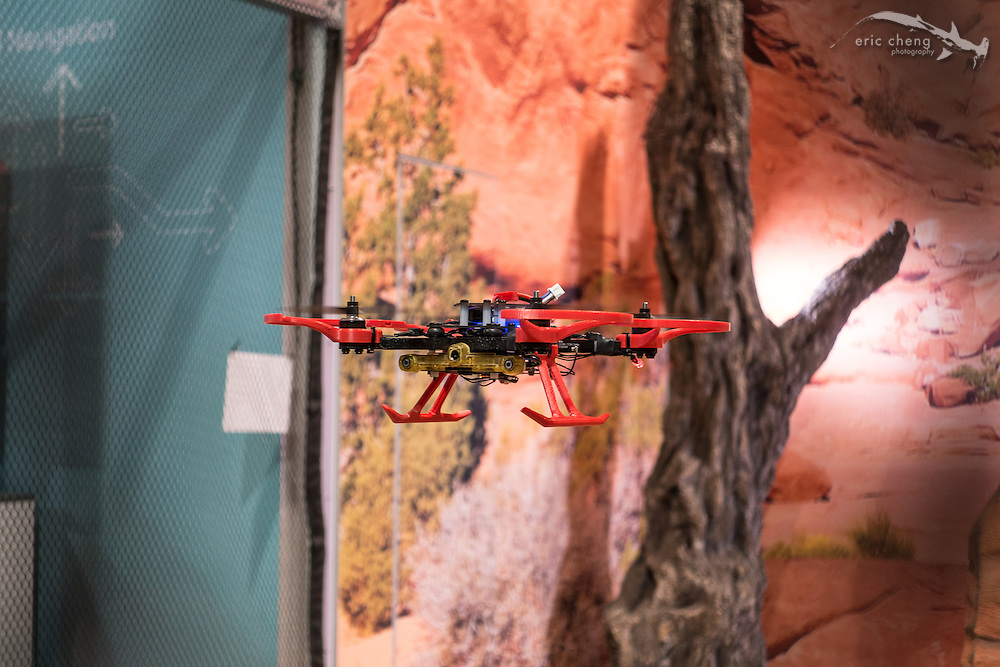 Qualcomm had a partial-SLAM demo showing a small quadcopter doing realtime mapping and avoiding obstacles. CES 2016, Las Vegas.