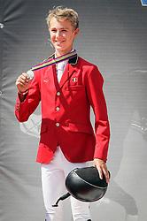 Thomas Gilles (BEL) - Conaro<br /> Bronze medal<br /> FEI European Jumping Championship for juniors <br /> Arezzo 2014<br /> © Hippo Foto - Stefano Secchi