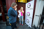 """EXCLUSIVE<br /> Former Big Brother star Frenchy arrives in London to audition for """"Office Girls"""" a new show being promoted by Marvin Howell who first discovered Lady Gag and Ellis Rich MBE, who signed blondy to EMI and also worked with Queen,  """"Office Girls"""" are searching for Just that girls from everyday office jobs to audition for a place in a new formed girl Group. Fenchy who turned up to audition which is  judged by fellow Big Brother house mate Dee Kelly, Frenchy was was later asked to leave the show because she gate crashed the event for the publicity as tension grew when she was asked to leave , Frenchy began screaming and shouting , throwing and ripping down the stage, Barry Tomes agent for White Dee took her outside to try and control Frenchy who clearly was not happy<br /> ©Exclusivepix Media"""