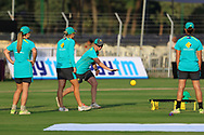 Australian players during the second women's one day International ( ODI ) match between India and Australia held at the Reliance Cricket Stadium in Vadodara, India on the 15th March 2018<br /> <br /> Photo by Vipin Pawar / BCCI / SPORTZPICS