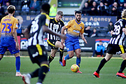 Mansfield Town Defender Malvind Benning (3) driving forward during the EFL Sky Bet League 2 match between Notts County and Mansfield Town at Meadow Lane, Nottingham, England on 16 February 2019.