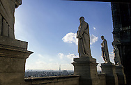 France. Paris. elevated view. Paris view from  Eglise Saint Vincent de Paul