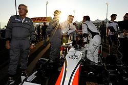 13.11.2011, Yas-Marina-Circuit, Abu Dhabi, UAE, Grosser Preis von Abu Dhabi, im Bild DHL Branding - Daniel Ricciardo (AUS) Hispania Racing F1 Team  // during the Formula One Championships 2011 Large price of Abu Dhabi held at the Yas-Marina-Circuit, 2011/11/13. EXPA Pictures © 2011, PhotoCredit: EXPA/ nph/ Dieter Mathis..***** ATTENTION - OUT OF GER, CRO *****