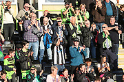 FGR fans before the match during the EFL Sky Bet League 2 second leg Play Off match between Forest Green Rovers and Tranmere Rovers at the New Lawn, Forest Green, United Kingdom on 13 May 2019.