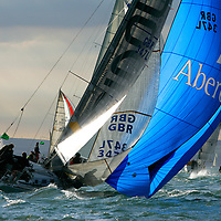 GBR 347L, ABERDEEN ASSET MANAGEMENT, COBRA, Round the island Race, 2013, Cowes, Isle of Wight, Sports Photography