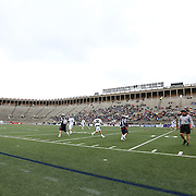 The Boston Cannons and the Chesapeake Bayhawks are seen during the game at Harvard Stadium on April 27, 2014 in Boston, Massachusetts. (Photo by Elan Kawesch)