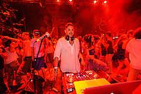 DJ Fabian performing at the Bali Spirit Festival, Arma, Ubud, Bali, Indonesia, 21/03/2014.
