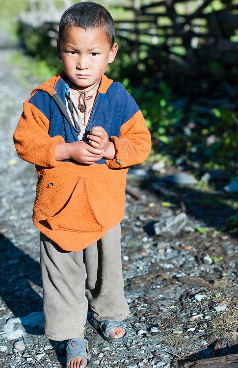 Boy portrait in the Annapurnas (Nepal)