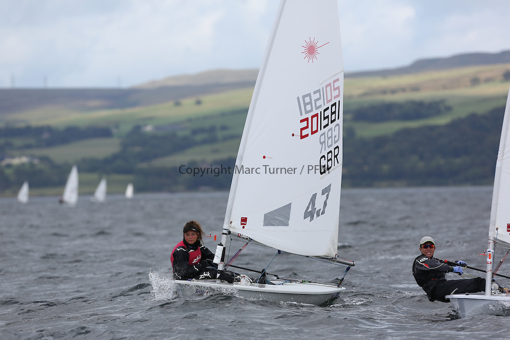 Day 4 NeilPryde Laser National Championships 2014 held at Largs Sailing Club, Scotland from the 10th-17th August.<br /> <br /> 201581, Abbie BACK<br /> Image Credit Marc Turner
