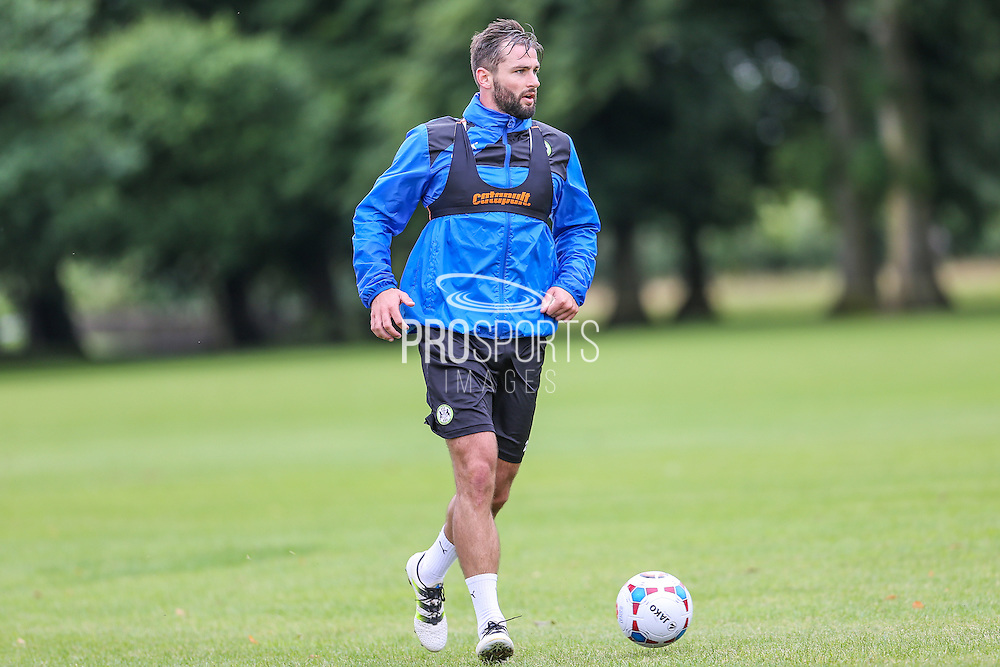 Forest Green Rovers Aaran Racine during the Forest Green Rovers Training at the Cirencester Agricultural College, Cirencester, United Kingdom on 12 July 2016. Photo by Shane Healey.