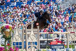 JÖNSSON Fredrik (SWE), Cold Play<br /> Tryon - FEI World Equestrian Games™ 2018<br /> FEI World Individual Jumping Championship<br /> Third cometition - Round B<br /> 3. Qualifikation Einzelentscheidung 1. Runde<br /> 23. September 2018<br /> © www.sportfotos-lafrentz.de/Stefan Lafrentz
