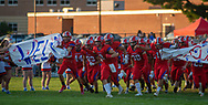 Neshaminy players enter the field before the Pennridge at Neshaminy football game Friday, August 30, 2019 at Harry Frank Stadium in Langhorne, Pennsylvania. (WILLIAM THOMAS CAIN/PHOTOJOURNALIST)