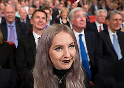A young conservative delegate listens to Prime Minister Theresa May's speech during the final day of the Conservative party conference at the International Convention Centre, ICC, Birmingham. Wednesday October 5, 2016. Photo credit should read: Isabel Infantes / EMPICS Entertainment.