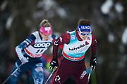 KUUSAMO, FINLAND - 2017-11-26: Yulia Belorukova under damernas l&auml;ngdkid&aring;kning 10km jaktstart under FIS World Cup Ruka Nordic p&aring; Ruka Stadium den 26 November, 2017 i Kuusamo, Finland.<br /> Foto: Nils Petter Nilsson/Ombrello<br /> ***BETALBILD***